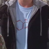 Adrenaline Molecule shirt as seen on The Big Bang Theory