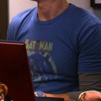 Sheldon Cooper Blue Batman Shirt