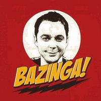 Bazinga! shirt with Sheldon's face