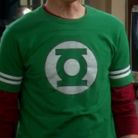 Green Lantern Shirt with Sleeve Stripes