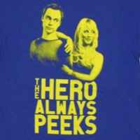 Sheldon Hero Always Peeks Shirt
