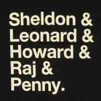 Sheldon & Leonard & Howard & Raj & Penny Shirt