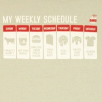 Sheldon Cooper Weekly Schedule Shirt