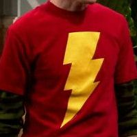Shazam shirt worn by Sheldon on The Big Bang Theory