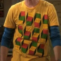 Sheldon wearing Opti Blocks shirt