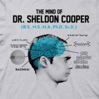Diagram of Sheldon Cooper's Mind Shirt