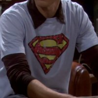 Sheldon's blue Superman shirt