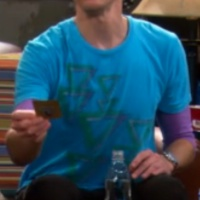 Heavy Rotation Triangles shirt worn by Sheldon Cooper
