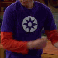 Violet Lantern Shirt worn by Sheldon Cooper