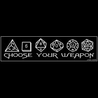 Choose Your Weapon D&D Shirt