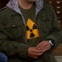 Yellow Radiation Symbol shirt