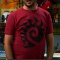 Wil Wheaton wearing Starcraft II Zerg Shirt